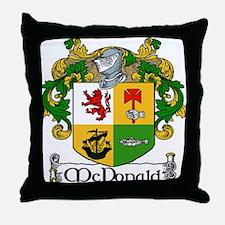 McDonald Coat of Arms Throw Pillow