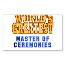 World's Greatest Master of Ceremonies Decal