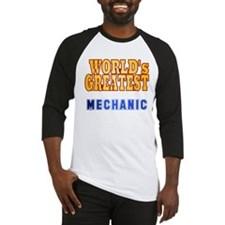 World's Greatest Mechanic Baseball Jersey
