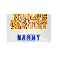 World's Greatest Nanny Rectangle Magnet