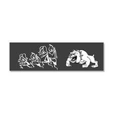 Dog Chasing Stick Family Car Magnet