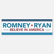 Romney Ryan Believe In America Bumper Sticker Stic
