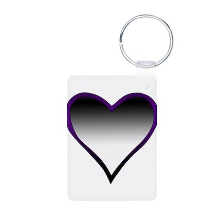 Asexual Flag Heart Aluminum Photo Keychain
