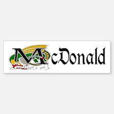 McDonald Celtic Dragon Bumper Bumper Bumper Sticker