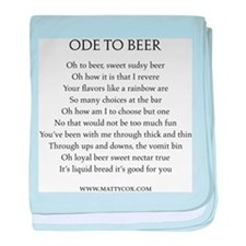 Ode To Beer baby blanket