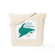 Saving Sharks Tote Bag