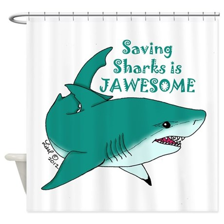 Saving sharks shower curtain by lieslssharkshop