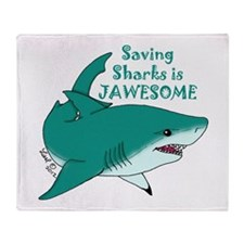 Saving Sharks Throw Blanket