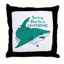 Saving Sharks Throw Pillow