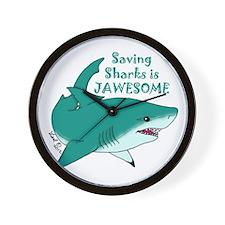 Saving Sharks Wall Clock