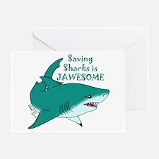 Saving Sharks Greeting Card