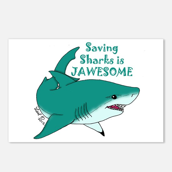 Saving Sharks Postcards (Package of 8)