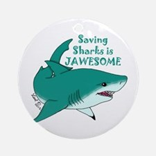 Saving Sharks Ornament (Round)