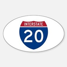 I-20 Highway Oval Decal