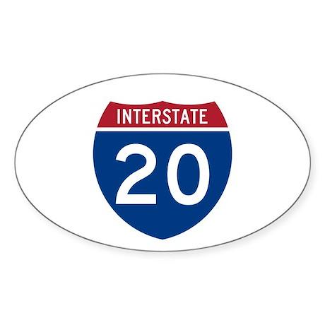 I-20 Highway Oval Sticker