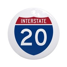 I-20 Highway Ornament (Round)