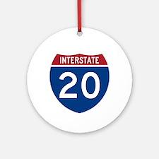 I-20 Highway Ornament (Round)