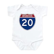 I-20 Highway Infant Creeper