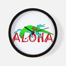 Gecko Aloha Wall Clock