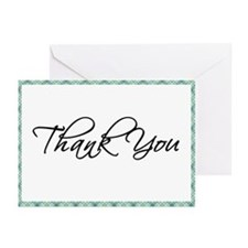 Thank You - Plaid Greeting Cards (Pk of 20)