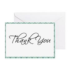 Thank You - Plaid Greeting Card