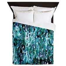Blue Rain Queen Duvet