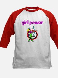 Girl Power Archery Kids Baseball Jersey