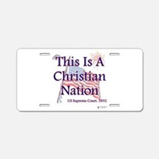 Christian Nation.png Aluminum License Plate