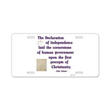 declaration cornerstone.png Aluminum License Plate
