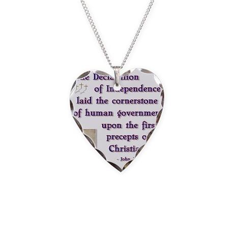 declaration cornerstone.png Necklace Heart Charm