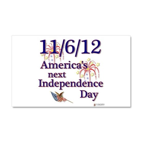 americas next independence day.png Car Magnet 20 x