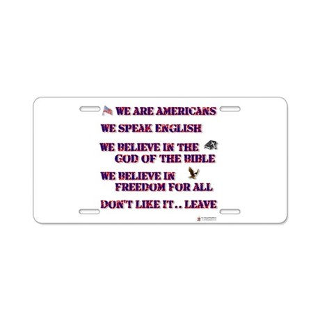 dont like it leave.png Aluminum License Plate