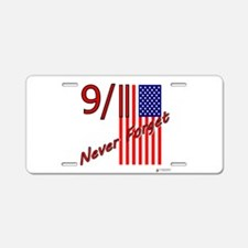 911 never forget.png Aluminum License Plate