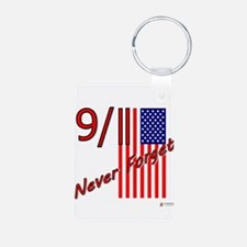 911 never forget.png Aluminum Photo Keychain