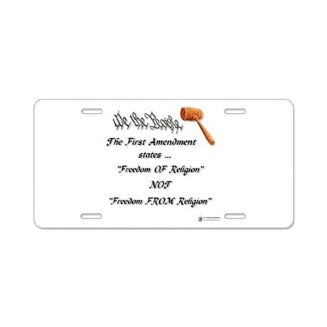 freedom of religion.png Aluminum License Plate
