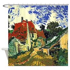 Van Gogh Villages Street in Auvers Shower Curtain