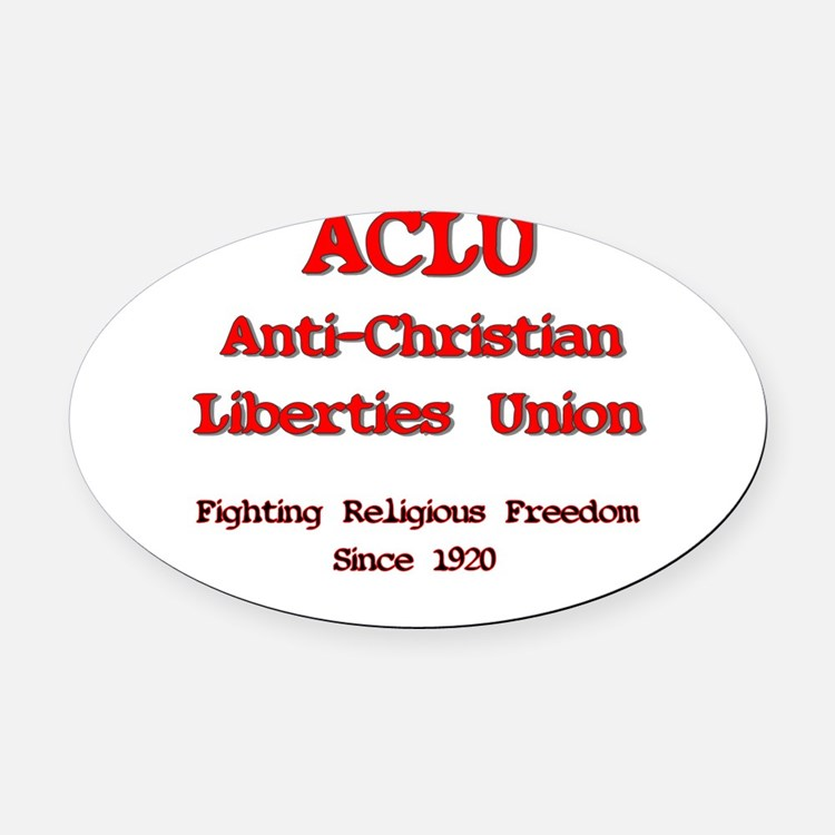 anti-christian.png Oval Car Magnet