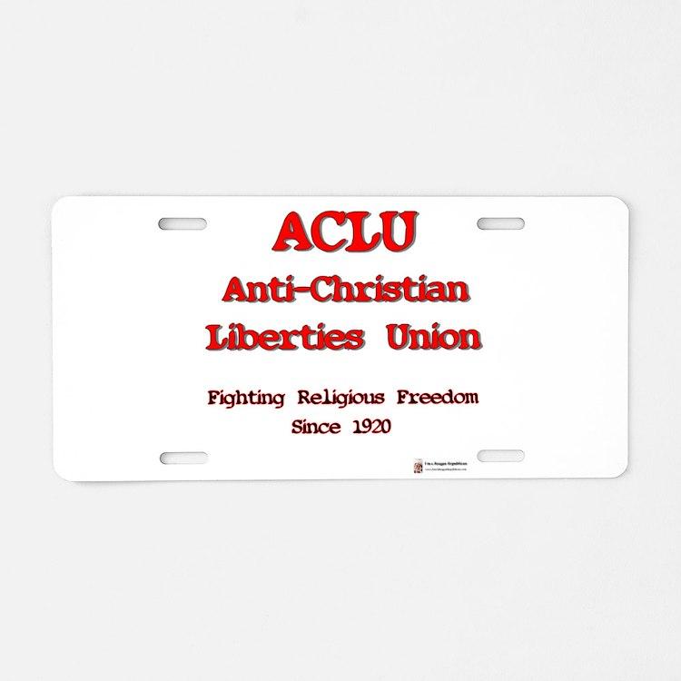 anti-christian.png Aluminum License Plate