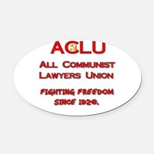 all communist lawyers.png Oval Car Magnet