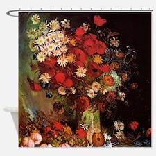 Van Gogh Flowers Shower Curtain