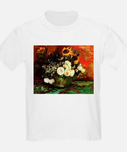 Van Gogh Roses And Sunflowers T-Shirt