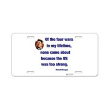 2-reagan wars came about.png Aluminum License Plat