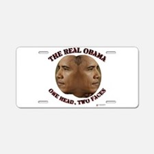 The Real Obama.png Aluminum License Plate