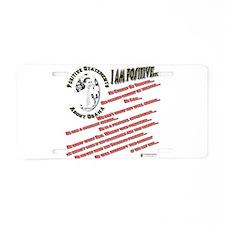 positive obama.png Aluminum License Plate