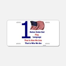 One.png Aluminum License Plate