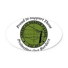 border patrol proud.png Oval Car Magnet