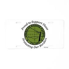 border patrol proud.png Aluminum License Plate