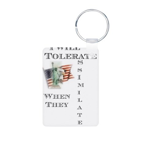 assimilate small.png Aluminum Photo Keychain
