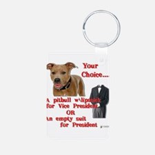pitbull with lipstick.png Aluminum Photo Keychain