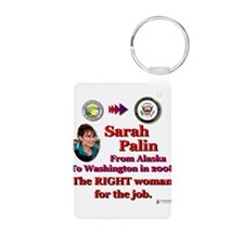 right woman for the job.png Keychains